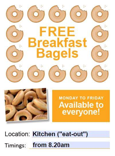 Free Bagels are now available at Brinsworth Academy