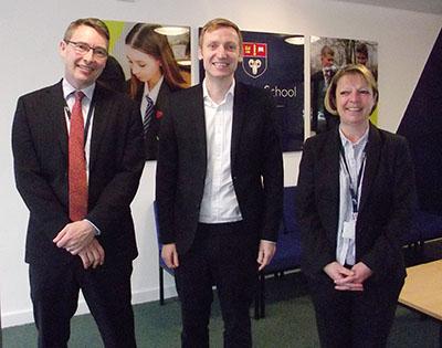 MP visits Eckington School